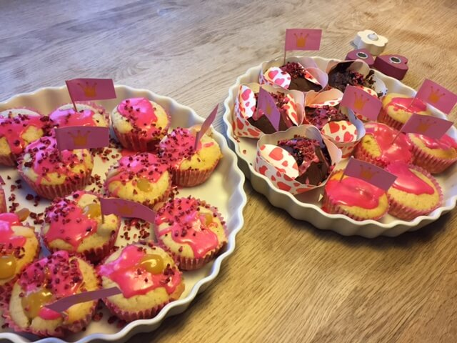 luftige muffins med fyld