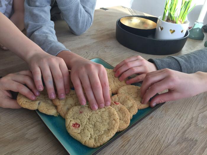 Cookies med M & M's