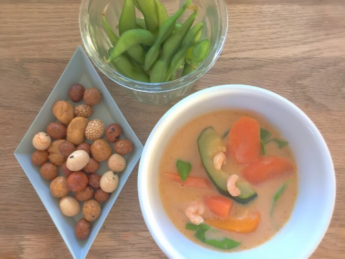 thaisuppe med rejer