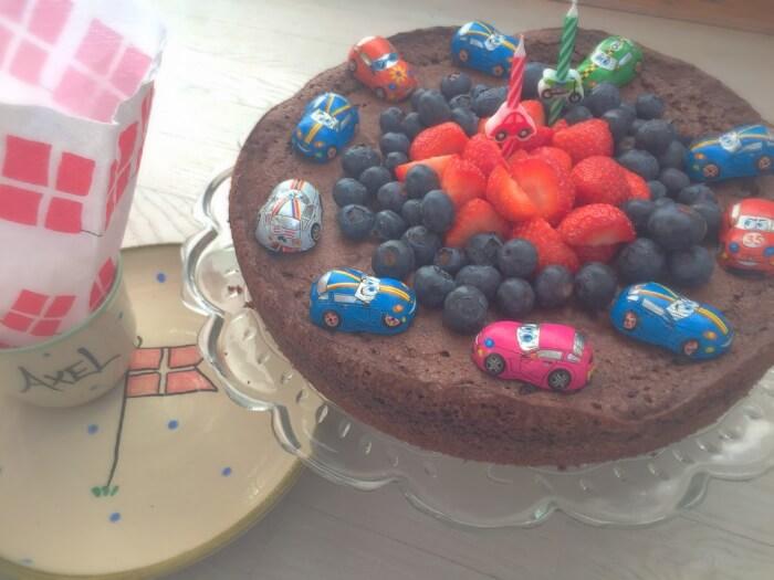 Verdens bedste brownies til Axels 2 års fødselsdag