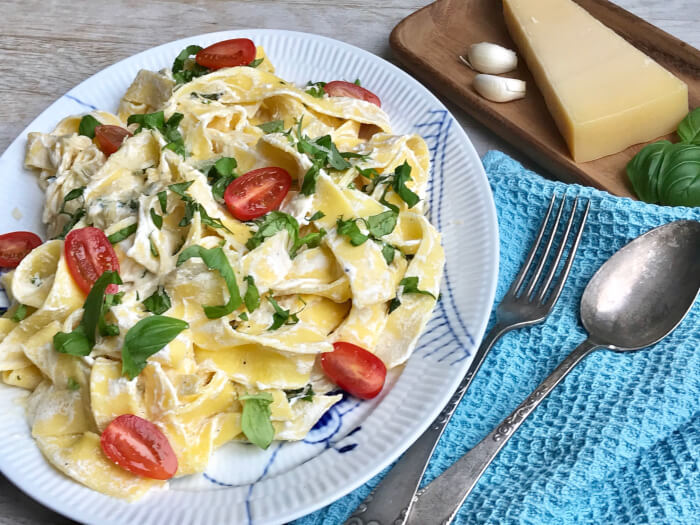 pappardelle med ricotta