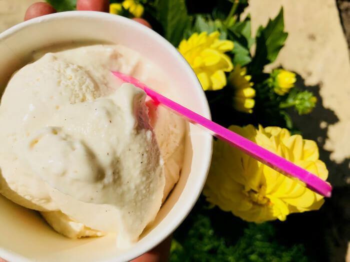 den bedste vanilleis(med flormelis)