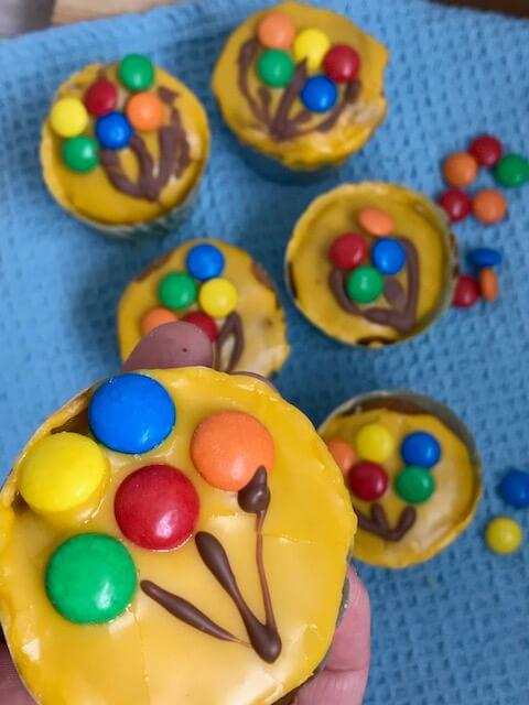 Muffins med chokolade balloner