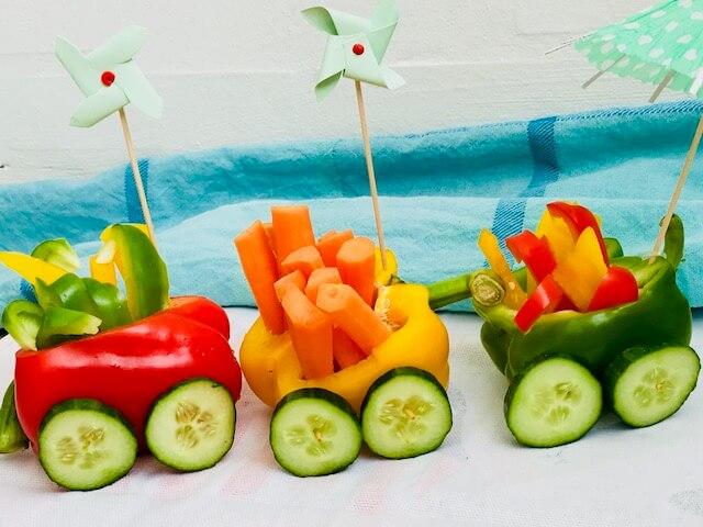 Grøntsagstog til børnefesten