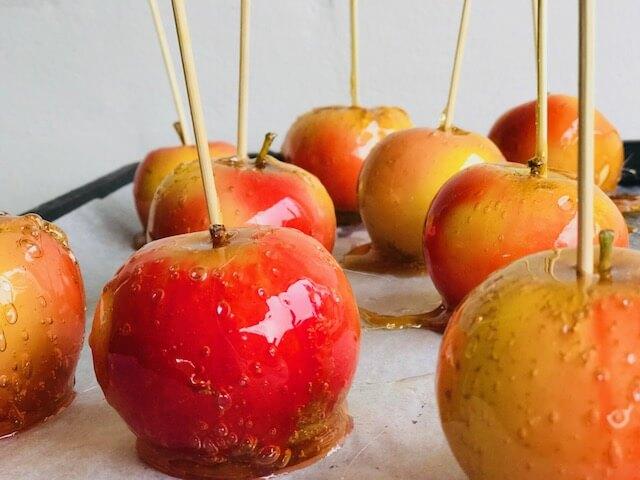 kandiserede æbler