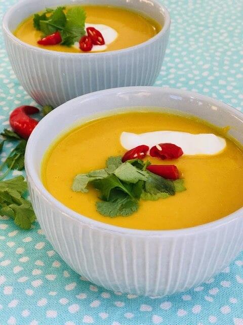 Suppe med linser og hokkaido græskar