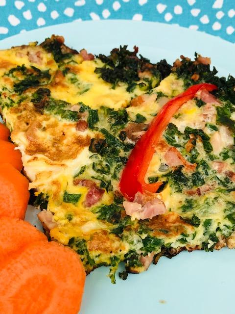 omelet med grønkål
