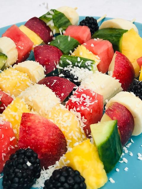 frugtspyd med kokosmel