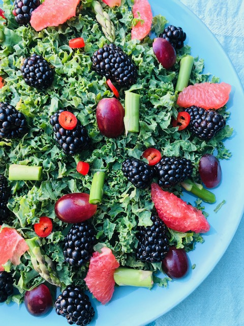grønkålssalat med grapefrugt
