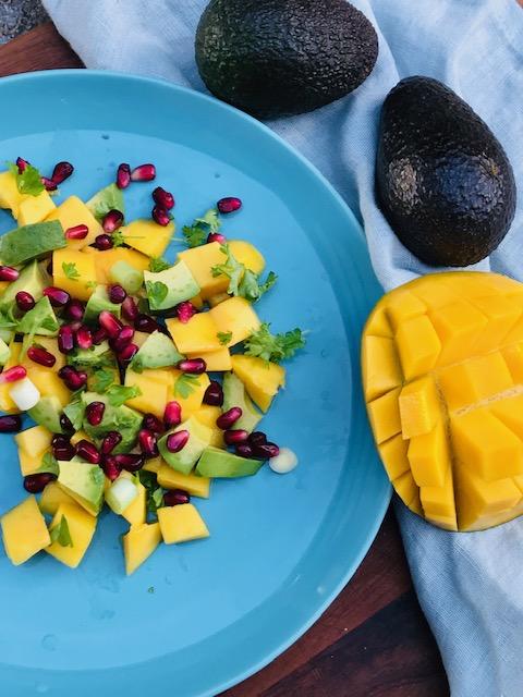 salat med mango og avocado
