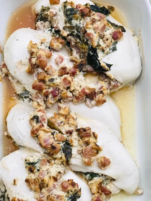 fyldt kyllingebryst med flødeost