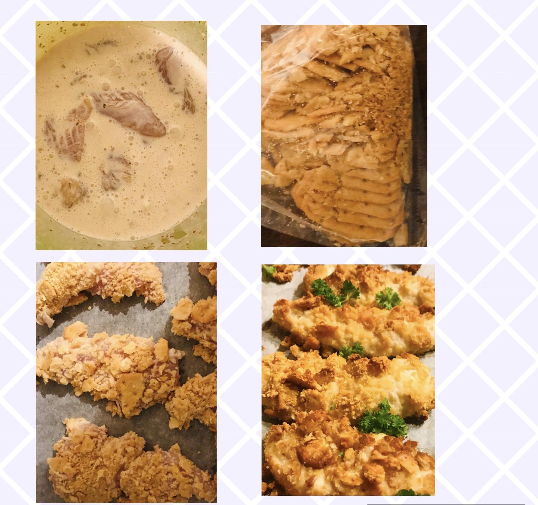 kyllingenuggets med tuc kiks