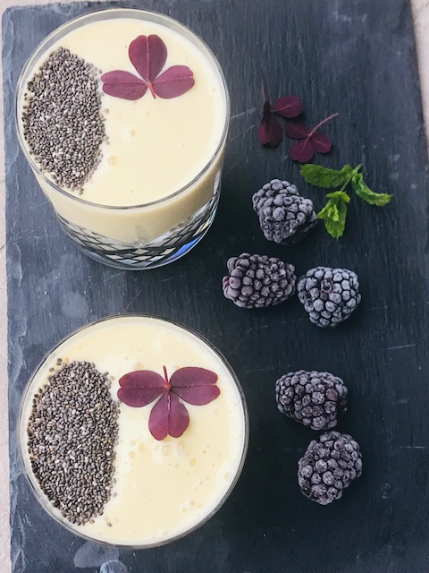 mango smoothie med havredrik