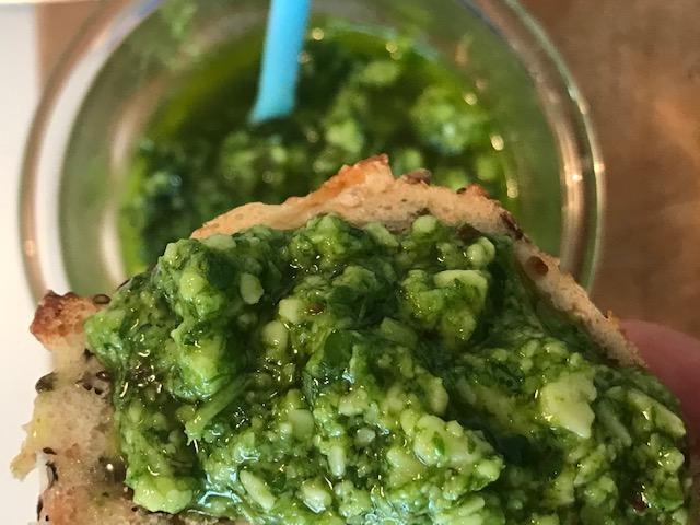 grøn mojo med parmesan