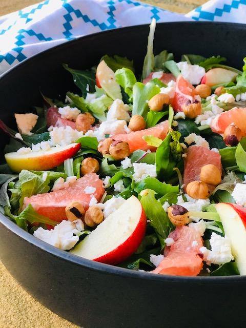 salat med grapefrugt