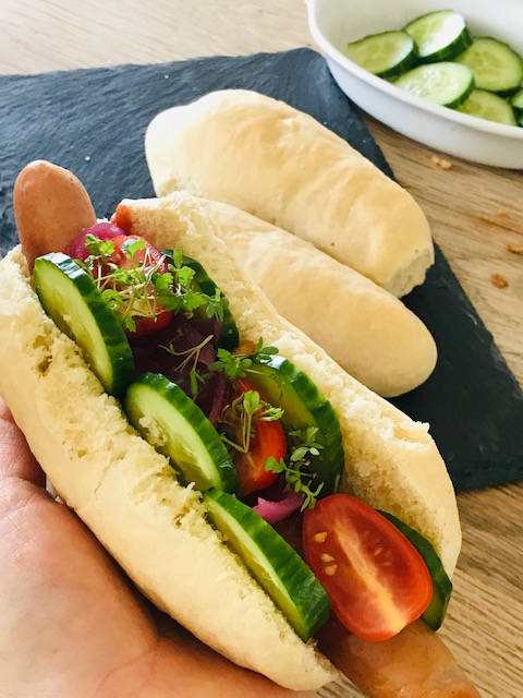 luftige hotdogsbrød