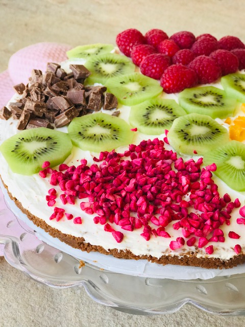 Kage med Bastogne kiks – cheesecake