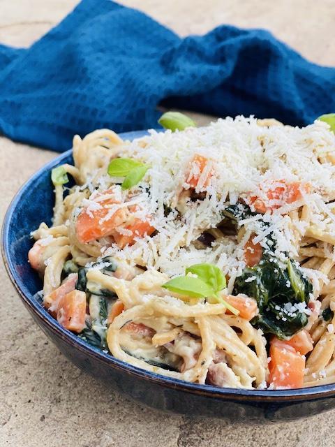 one pot pasta med kalkunbacon