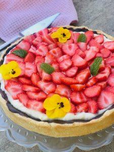 jordbærtærte med creme