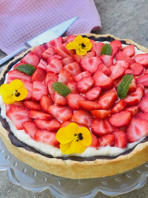 Jordbær tærte med vanillecreme – klassisk jordbærtærte