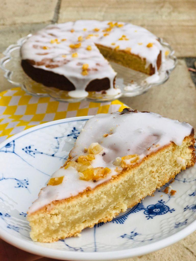 Kage med marcipan og citron