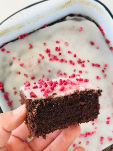 chokoladekage i bradepande
