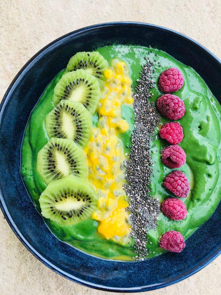 Grøn smoothie med spirulina