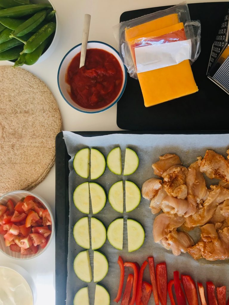 Mexicansk kylling til tortilla