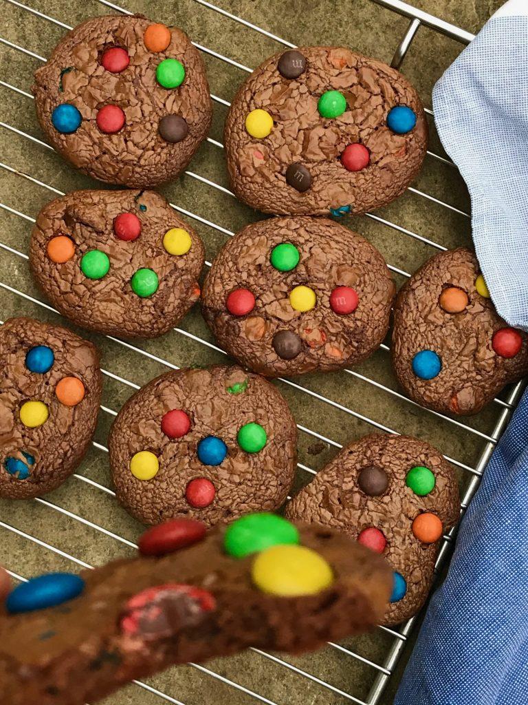 cookies med m&m's nutella