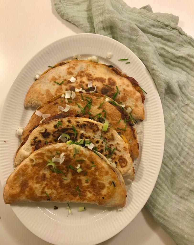 Enchiladas med sorte bønner