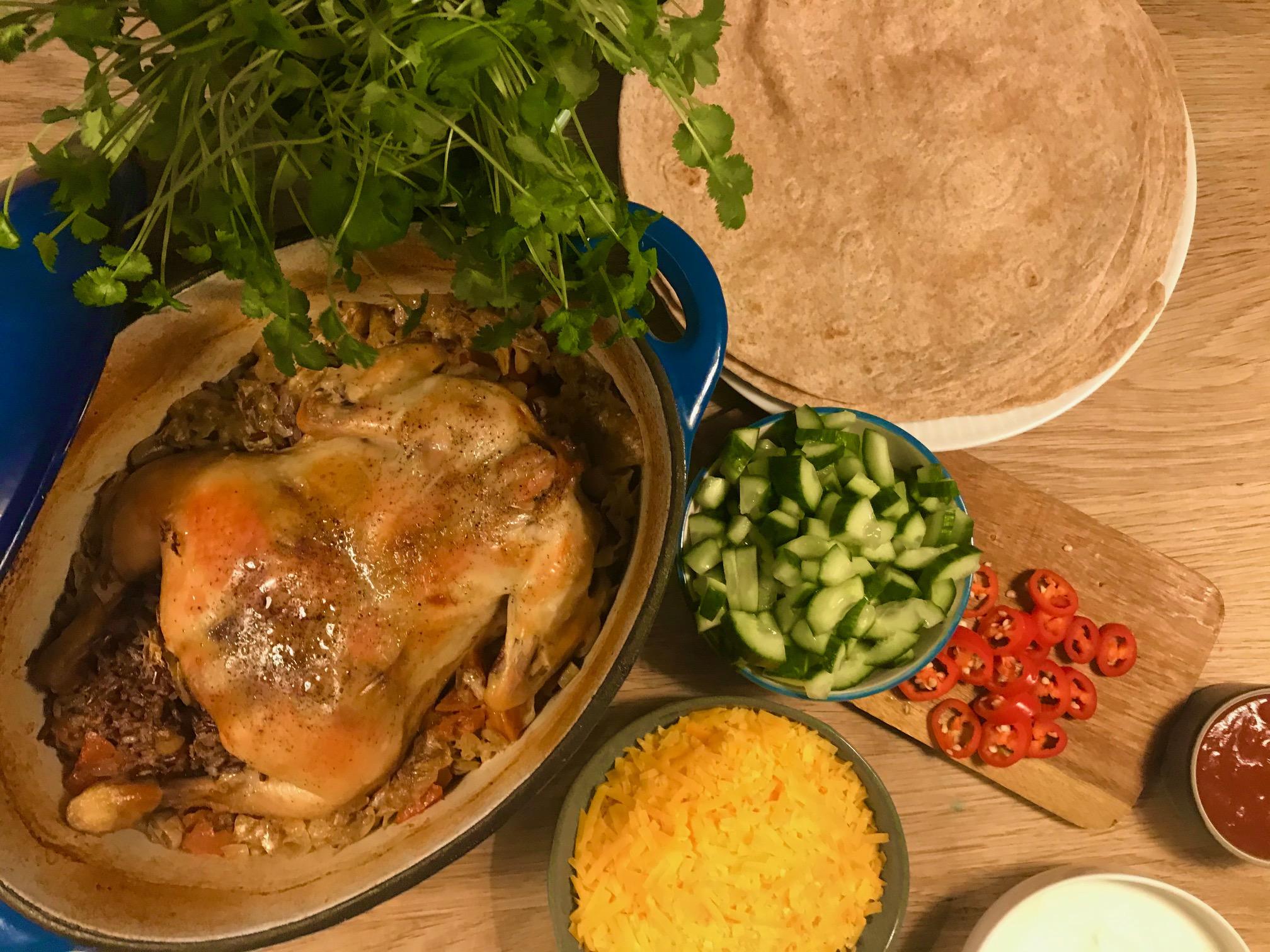 Mexikansk kylling i stegeso