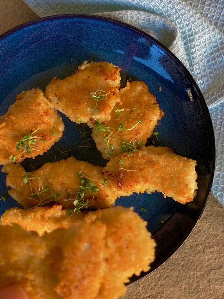 Paneret kylling med parmesan