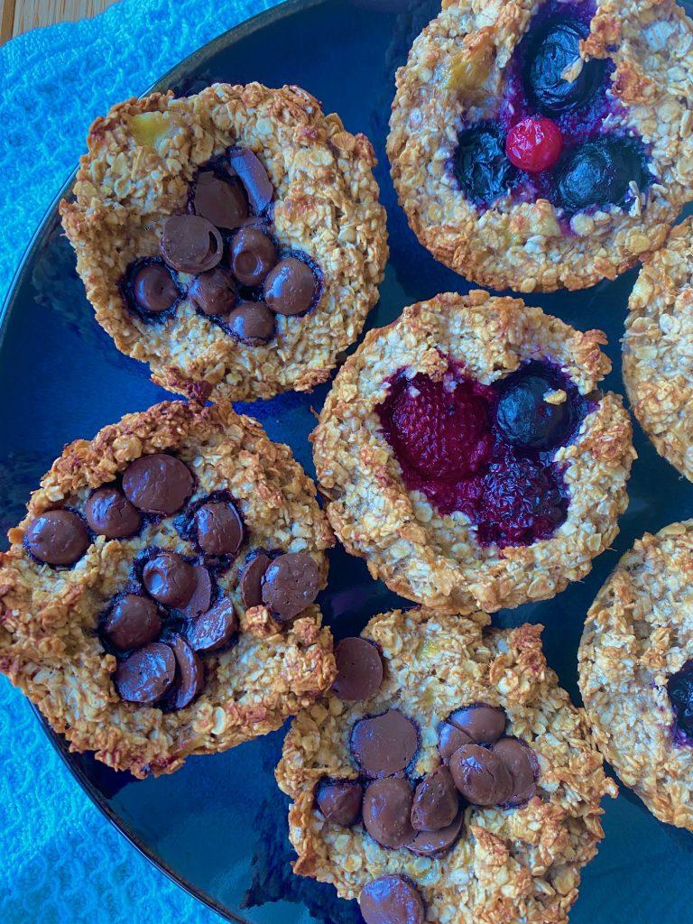 Sunde muffins med banan og havregryn