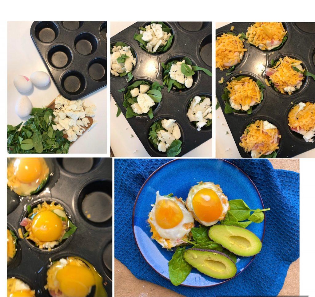 Æggemuffins med blomkål