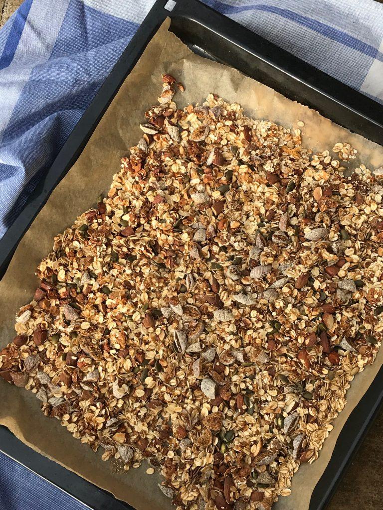 Musli i ovn med figner og havregryn