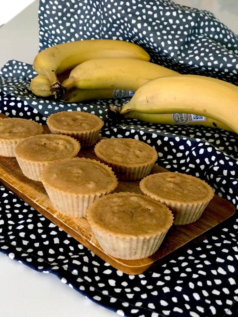 bananmuffins med honning