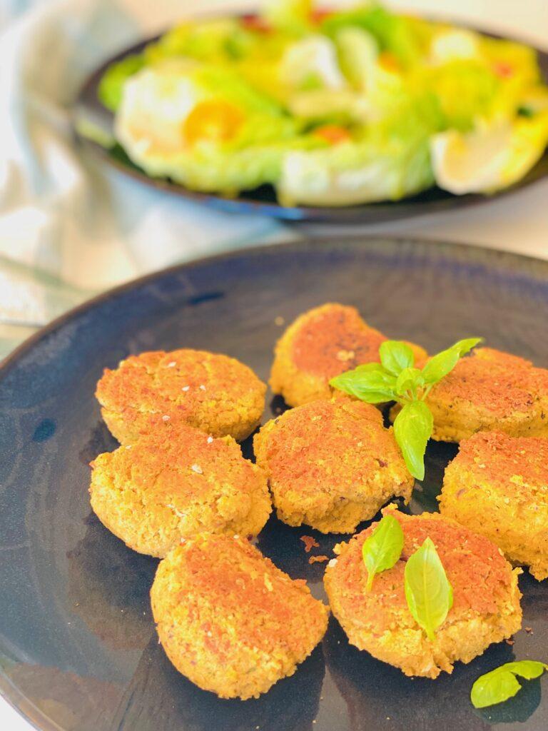 Vegetariske frikadeller med kikærter