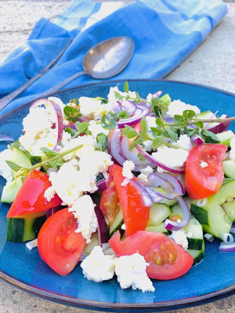Græsk salat uden oliven