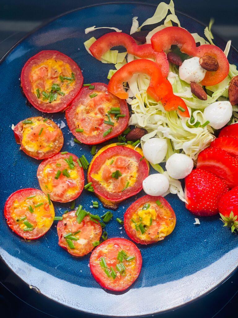 Pandestegte tomatskiver