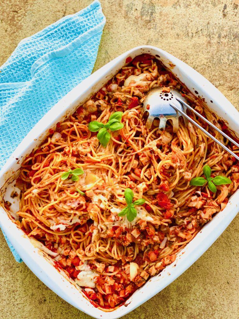 Bagt spaghetti