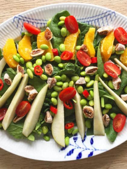spinatsalat med figner og andet godt