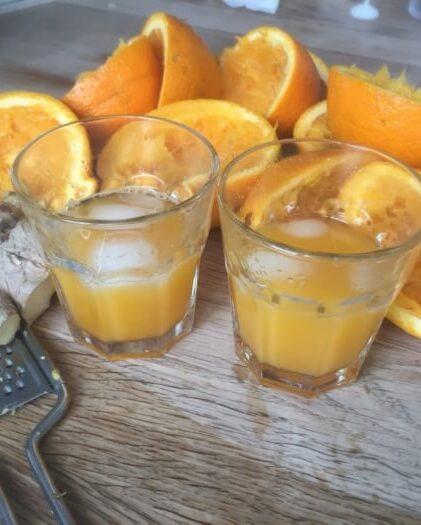 Appelsinjuice med ingefær