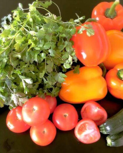 Fine og friske grøntsager