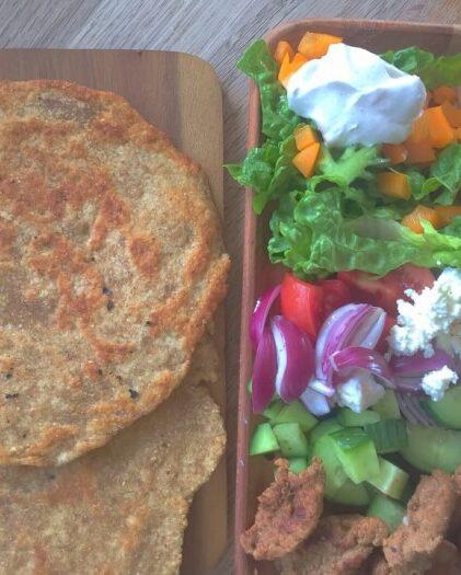 hjemmelavet durumrulle med kød
