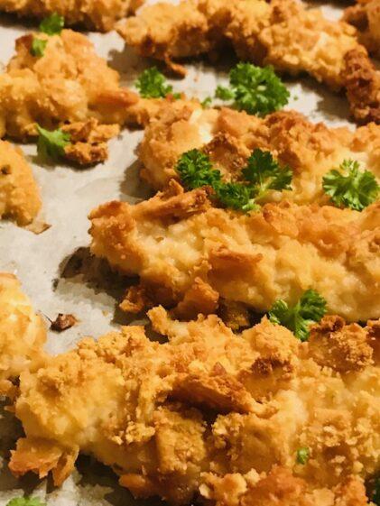 sprøde kyllingenuggets med tuc kiks