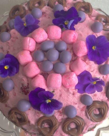 lyserøde lagkagebunde