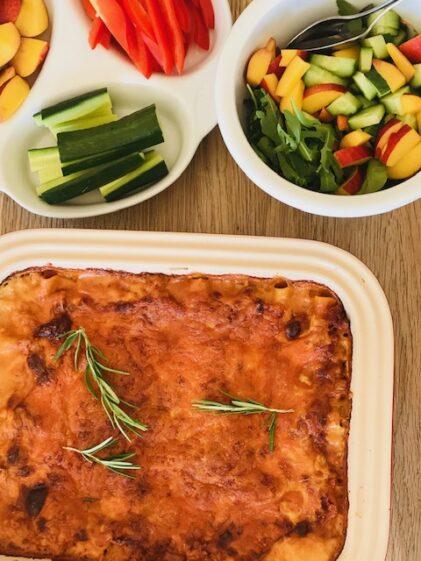Lækker lasagne med hakket plantefars