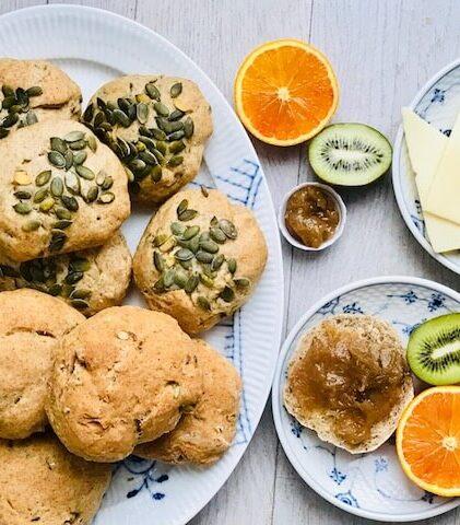 madpakke-boller med græskarkerner