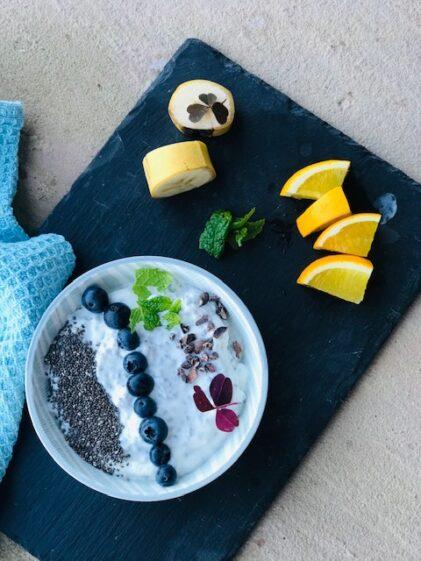chiagrød med skyr og vanille