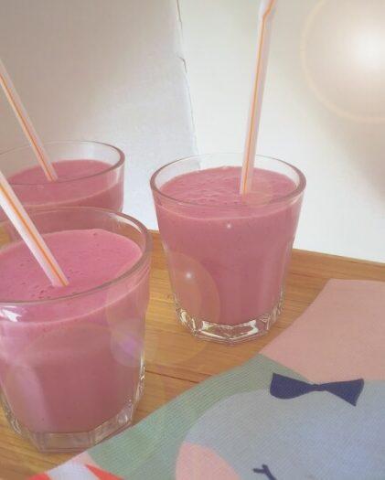 smoothie med soyamælk